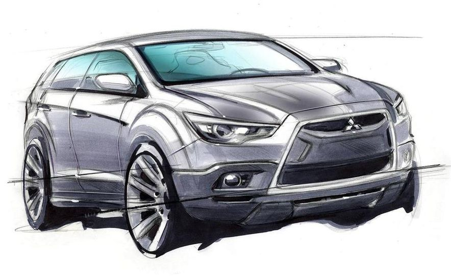 Mitsubishi compact crossover (artist's rendering) - Slide 1