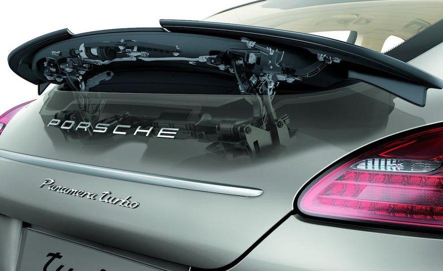 2010 Porsche Panamera Turbo rear wing cutaway - Slide 1