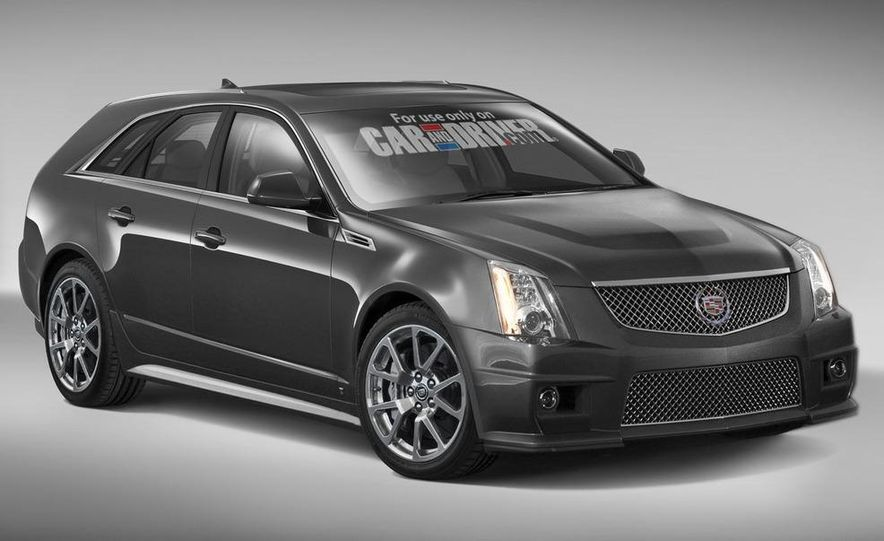 2010 Cadillac CTS-V Sport Wagon (artist's rendering) - Slide 1