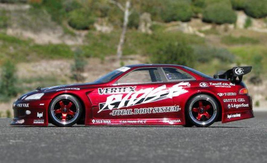 HPI-Racing Nitro RS4 3 Drift Toyota Soarer, Tamiya XB NISMO GT-R R35 TT-01E, Traxxas Slash 2WD Short-Course Race Truck, and HPI-Racing Sprint 2 Sport Drift Trueno - Slide 7