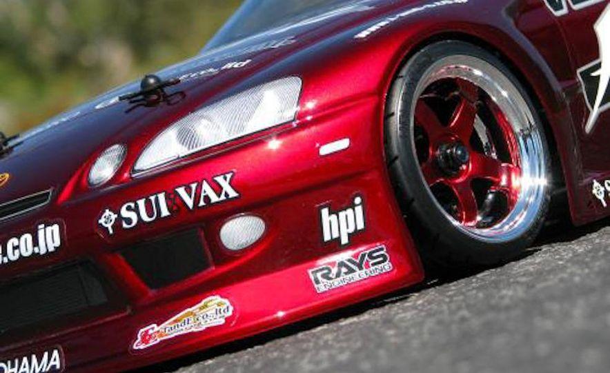 HPI-Racing Nitro RS4 3 Drift Toyota Soarer, Tamiya XB NISMO GT-R R35 TT-01E, Traxxas Slash 2WD Short-Course Race Truck, and HPI-Racing Sprint 2 Sport Drift Trueno - Slide 9
