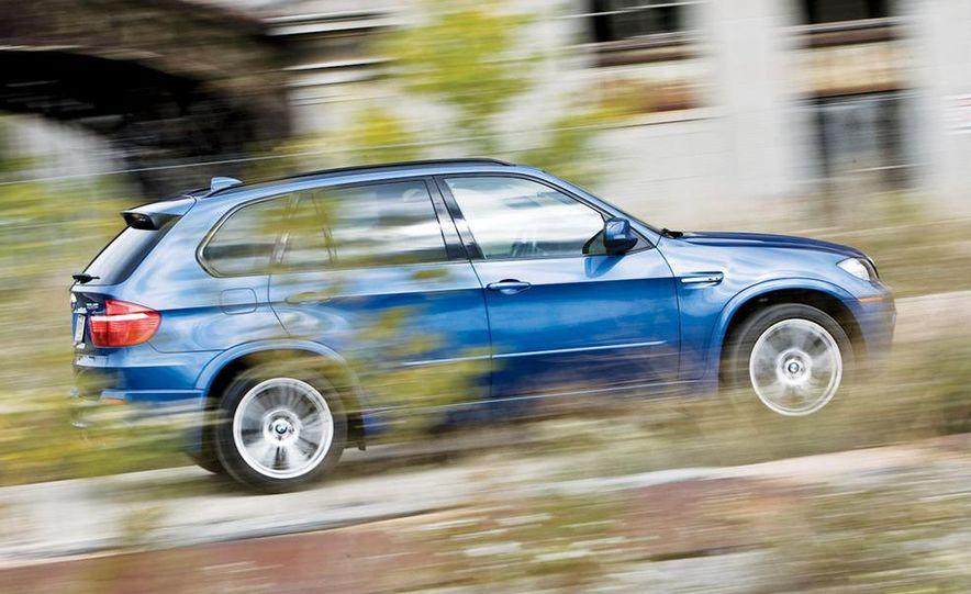 2010 BMW X5 M, 2009 Porsche Cayenne Turbo S, 2010 Jeep Grand Cherokee SRT8, and Land Rover Ranger Rover Sport Supercharged - Slide 10