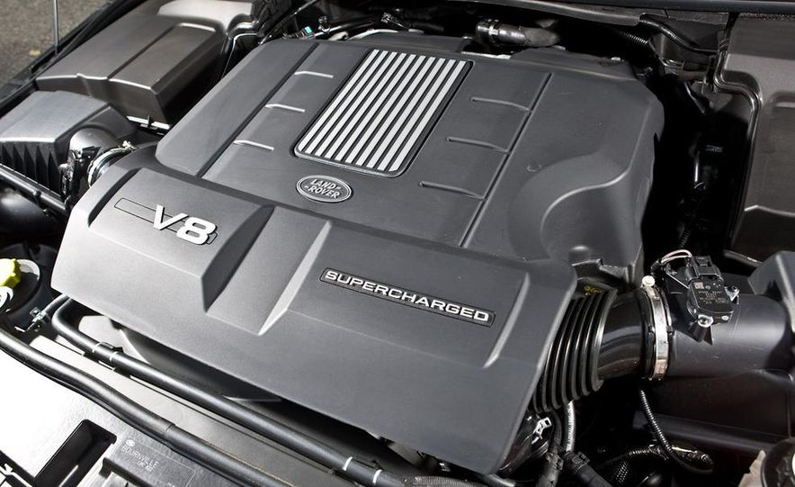 2010 BMW X5 M, 2009 Porsche Cayenne Turbo S, 2010 Jeep Grand Cherokee SRT8, and Land Rover Ranger Rover Sport Supercharged - Slide 75