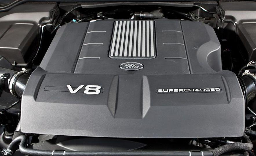 2010 BMW X5 M, 2009 Porsche Cayenne Turbo S, 2010 Jeep Grand Cherokee SRT8, and Land Rover Ranger Rover Sport Supercharged - Slide 76