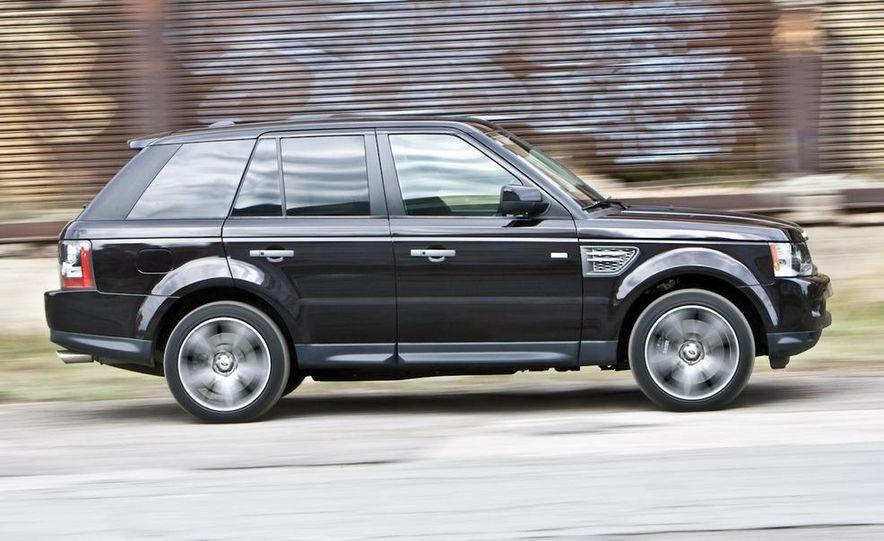 2010 BMW X5 M, 2009 Porsche Cayenne Turbo S, 2010 Jeep Grand Cherokee SRT8, and Land Rover Ranger Rover Sport Supercharged - Slide 67