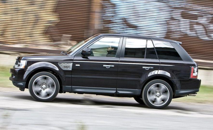 2010 BMW X5 M, 2009 Porsche Cayenne Turbo S, 2010 Jeep Grand Cherokee SRT8, and Land Rover Ranger Rover Sport Supercharged - Slide 68