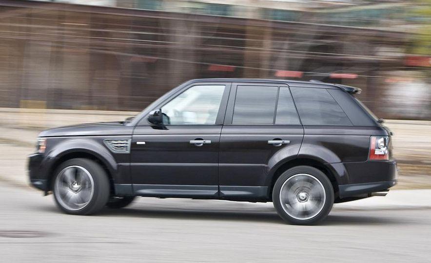 2010 BMW X5 M, 2009 Porsche Cayenne Turbo S, 2010 Jeep Grand Cherokee SRT8, and Land Rover Ranger Rover Sport Supercharged - Slide 72
