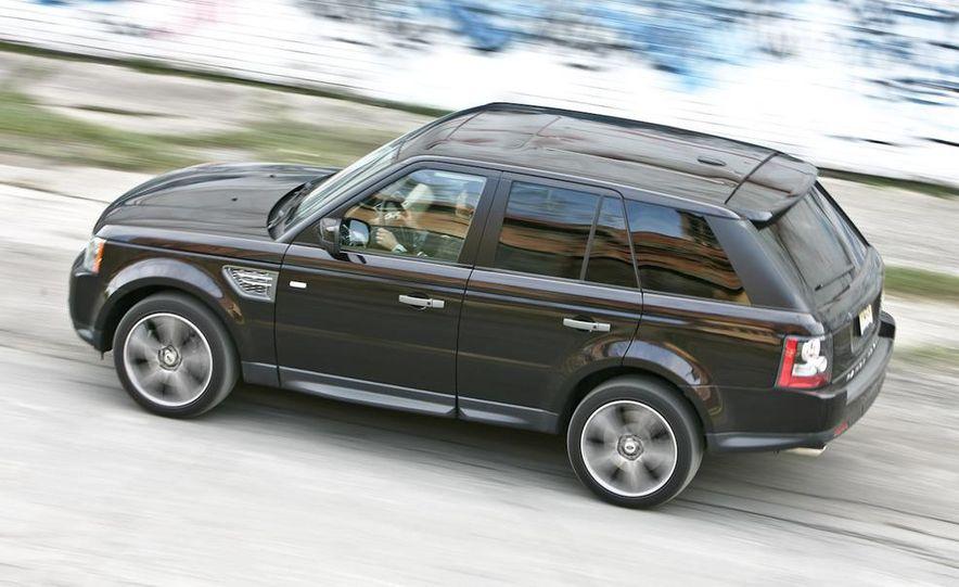 2010 BMW X5 M, 2009 Porsche Cayenne Turbo S, 2010 Jeep Grand Cherokee SRT8, and Land Rover Ranger Rover Sport Supercharged - Slide 73
