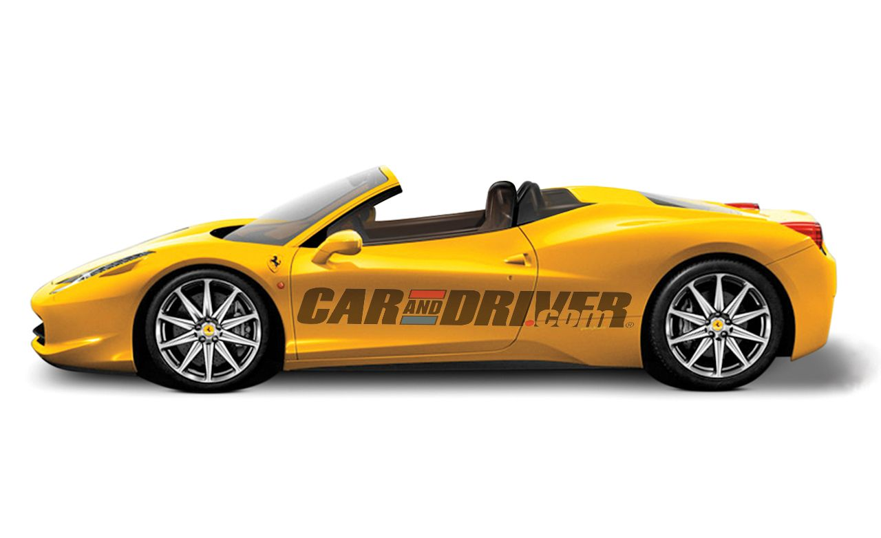 2011 ferrari 458 italia spider – feature – car and driver