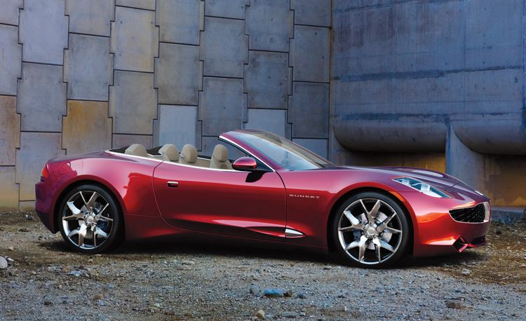 2012 Fisker Karma Sunset Convertible