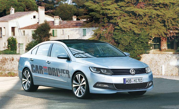 2012 Volkswagen New Mid-Size Sedan Rendered