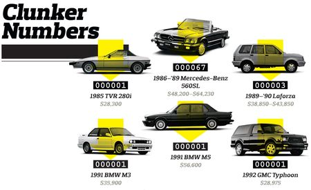 A Tally of Interesting Cars Killed by Cash for Clunkers