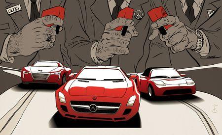 Electric Supercars: Audi E-Tron, Tesla Roadster, M-B SLS AMG eDrive Charge to Production