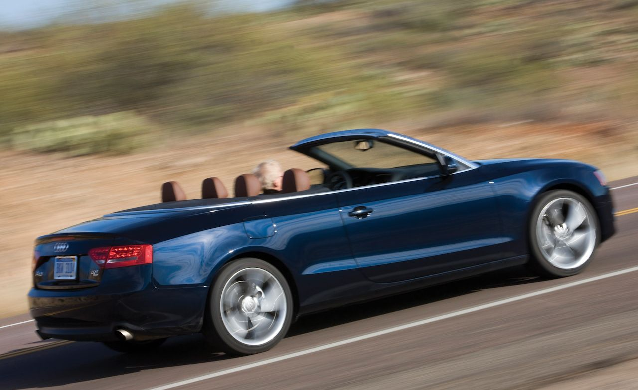 2010 audi a5 2 0t quattro cabriolet instrumented test car and driver. Black Bedroom Furniture Sets. Home Design Ideas