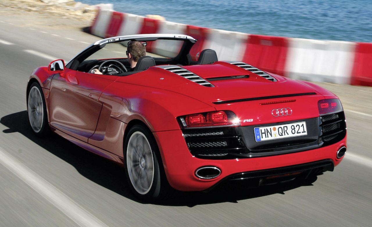 2011 audi r8 spyder 5.2 v10 fsi quattro – review – car and driver