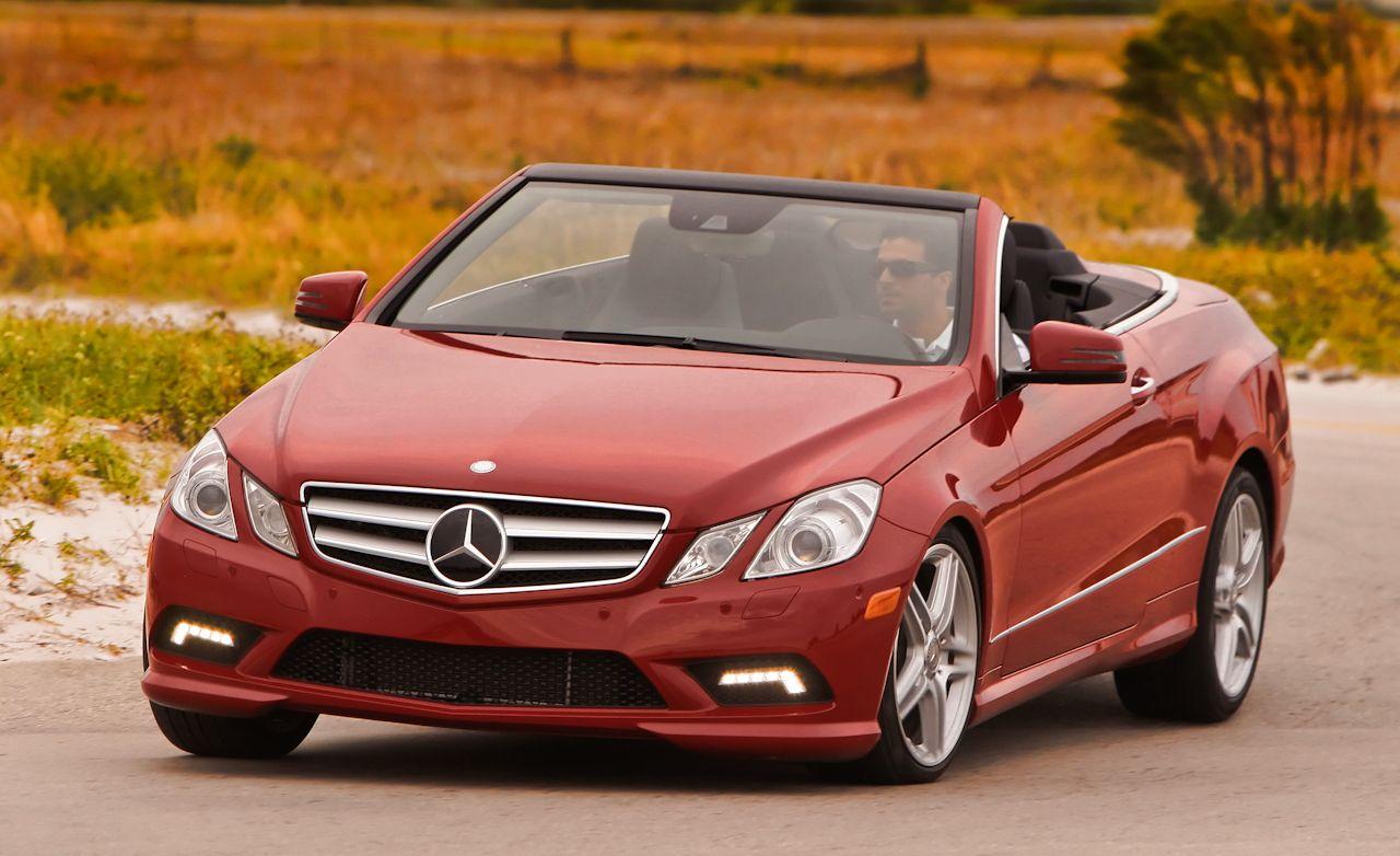2011 mercedes benz e class e350 e550 cabriolet review car and driver