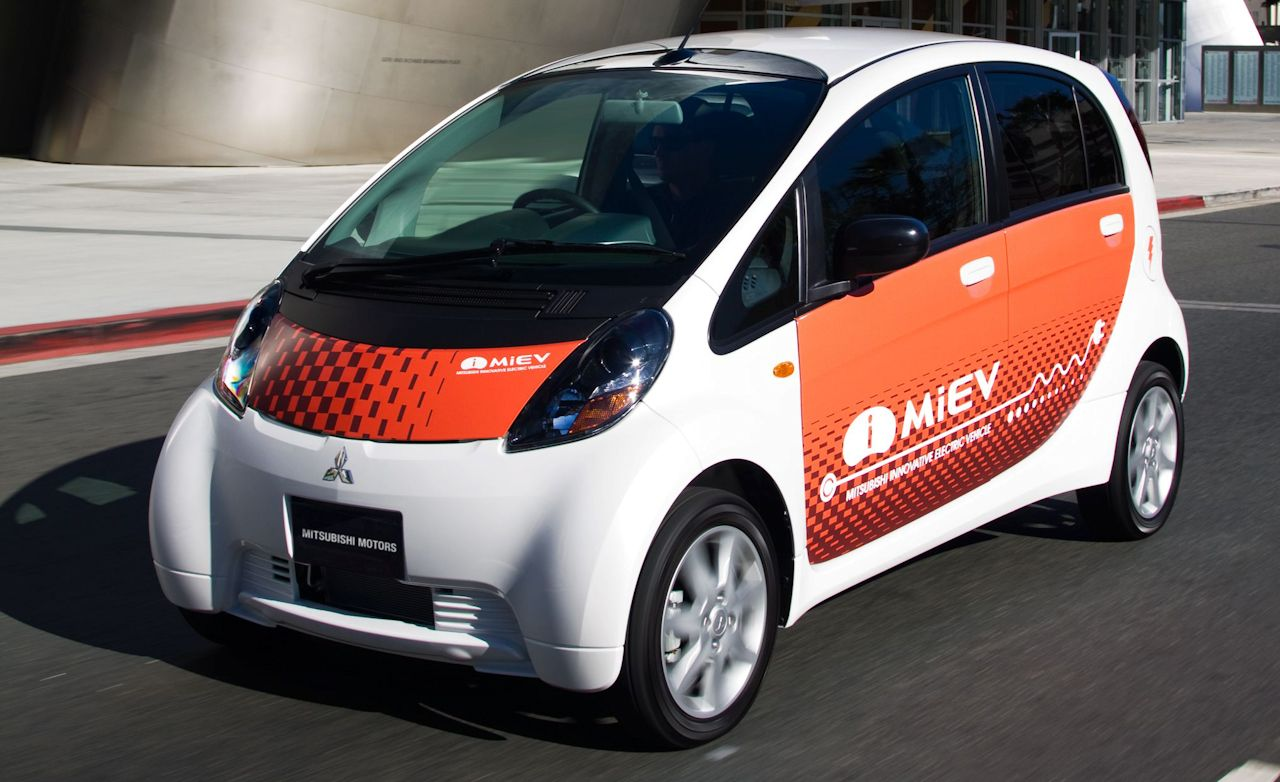 Mitsubishi I Miev Electric Car Prototype Instrumented Test And Driver
