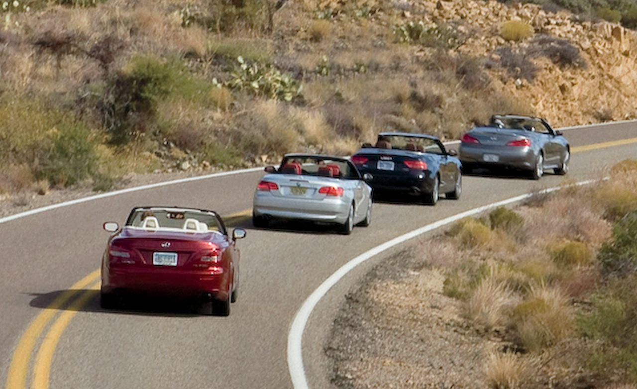 2010 Audi A5 2.0T Quattro vs. 2010 BMW 328i, 2009 Infiniti G37, 2010 Lexus IS350C