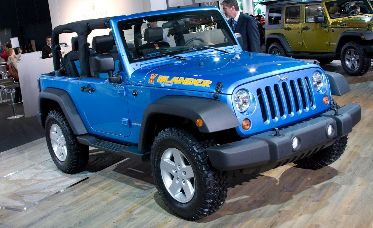 2010 Jeep Wrangler Islander Wrangler Mountain And Liberty Renegade Auto Show News Car