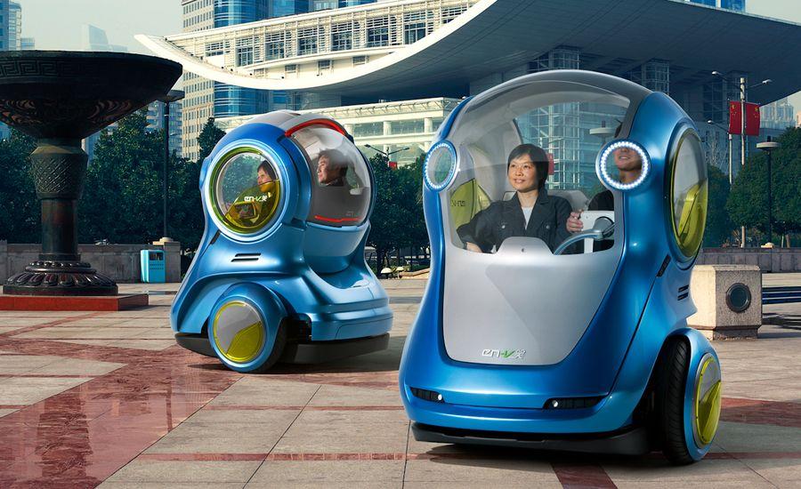 GM EN-V Concepts Invade World Expo Shanghai