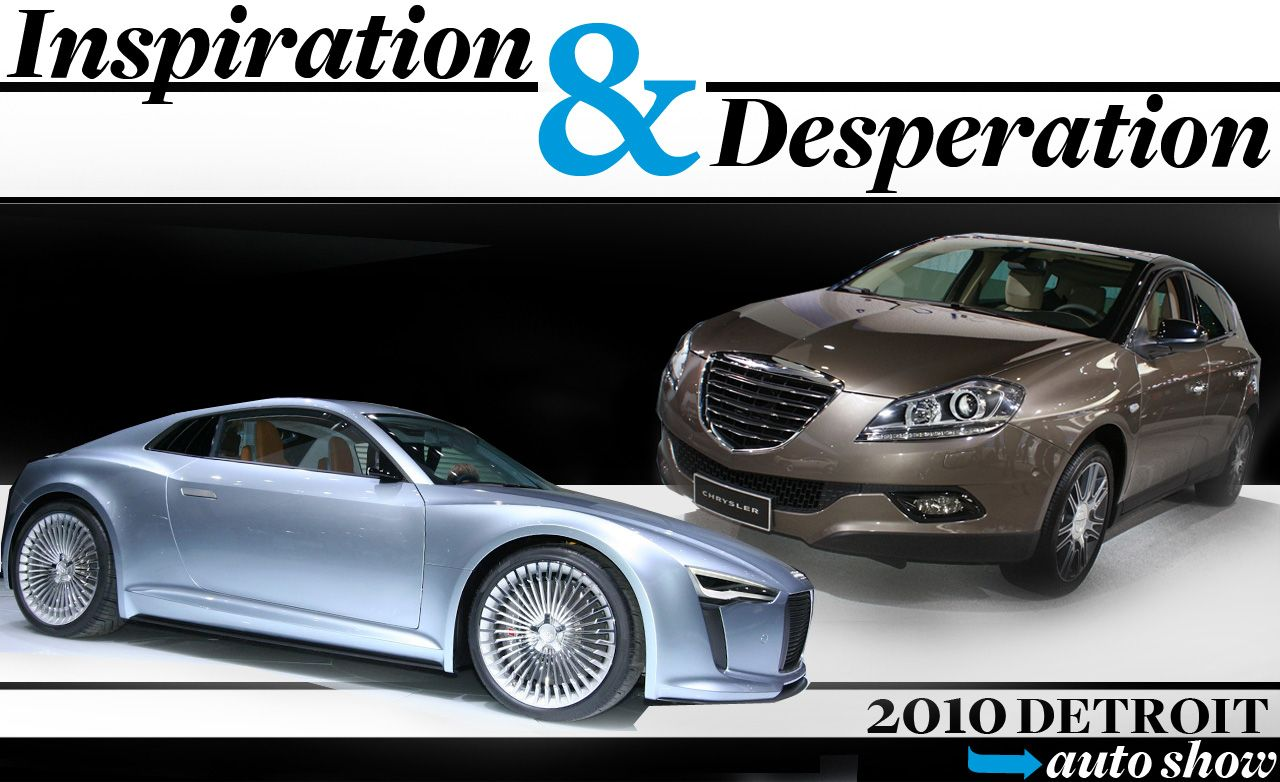 Inspiration and Desperation at the 2010 Detroit Auto Show