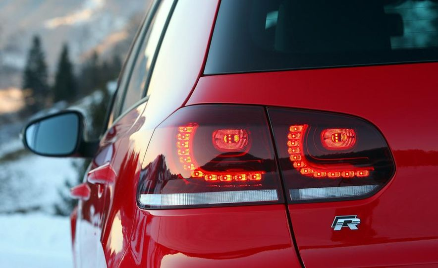 2010 Volkswagen Golf R taillight and liftgate badge (Euro spec) - Slide 1