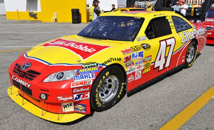 Marcos Ambrose's race car at the Daytona International Speedway for the 2009 NASCAR Sprint Cup Series - Slide 1
