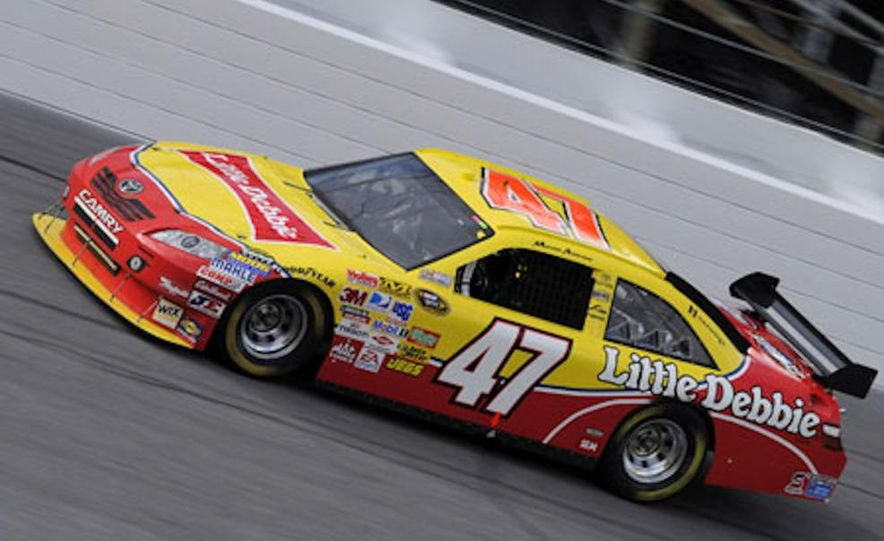 Marcos Ambrose's race car at the Daytona International Speedway for the 2009 NASCAR Sprint Cup Series - Slide 2