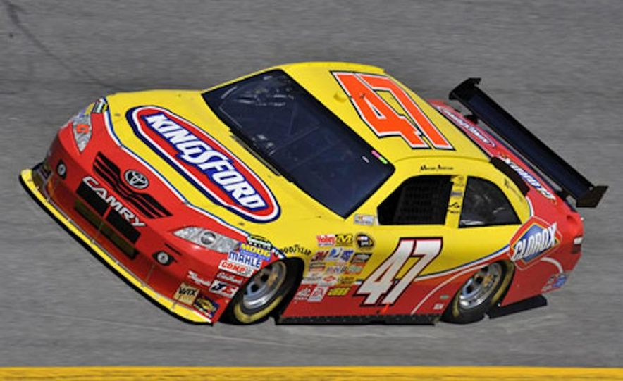 Marcos Ambrose's race car at the Daytona International Speedway for the 2009 NASCAR Sprint Cup Series - Slide 3