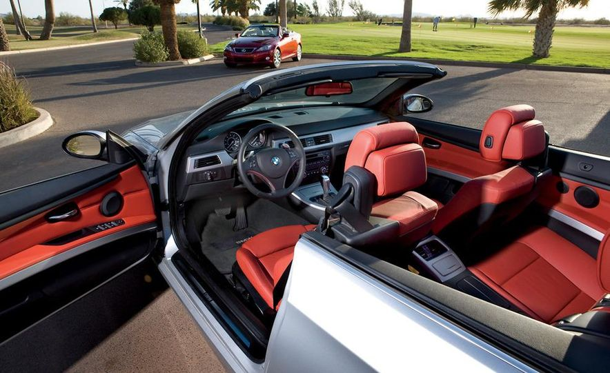 2010 Lexus IS350C and 2010 BMW 328i convertible - Slide 31
