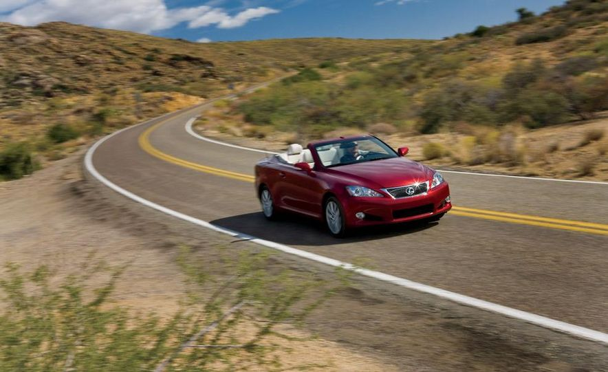 2010 Lexus IS350C and 2010 BMW 328i convertible - Slide 35