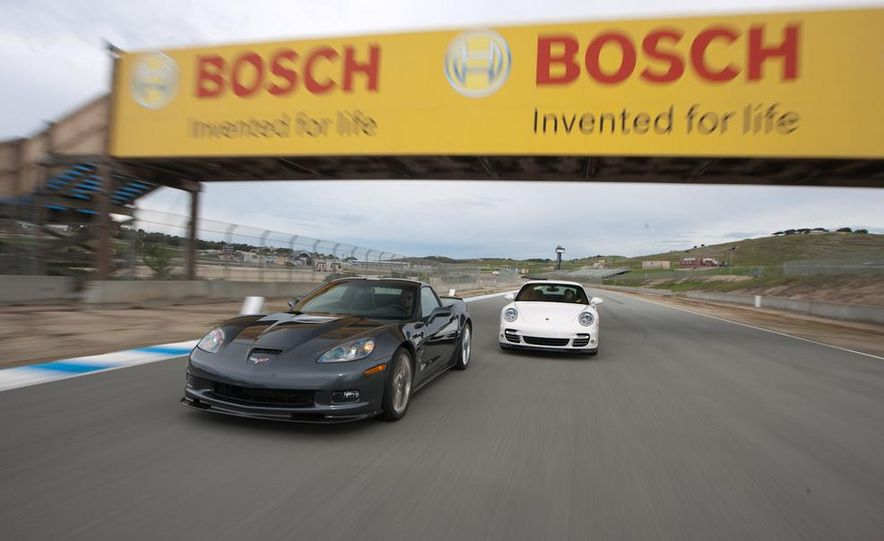 2010 Chevrolet Corvette ZR1 and 2010 Porsche 911 Turbo coupe - Slide 3