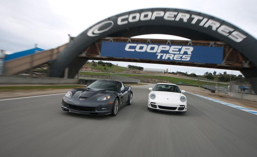 2010 Chevrolet Corvette ZR1 and 2010 Porsche 911 Turbo coupe - Slide 4
