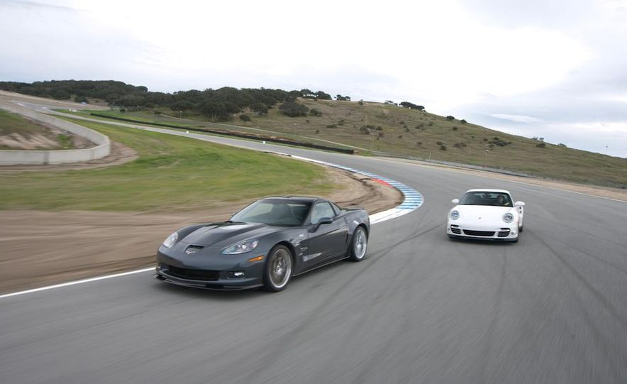 2010 Chevrolet Corvette ZR1 and 2010 Porsche 911 Turbo coupe - Slide 11