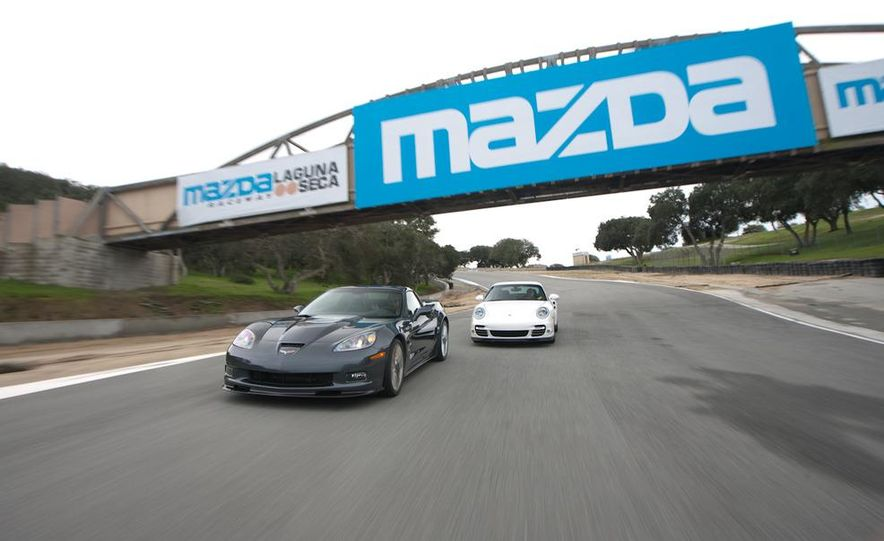 2010 Chevrolet Corvette ZR1 and 2010 Porsche 911 Turbo coupe - Slide 12