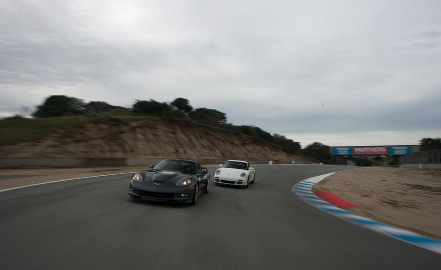 2010 Chevrolet Corvette ZR1 and 2010 Porsche 911 Turbo coupe - Slide 15