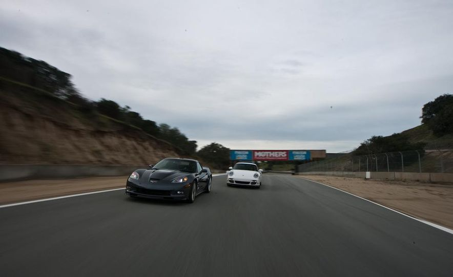 2010 Chevrolet Corvette ZR1 and 2010 Porsche 911 Turbo coupe - Slide 16