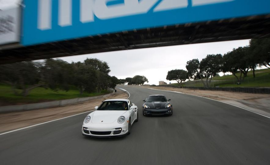 2010 Chevrolet Corvette ZR1 and 2010 Porsche 911 Turbo coupe - Slide 17