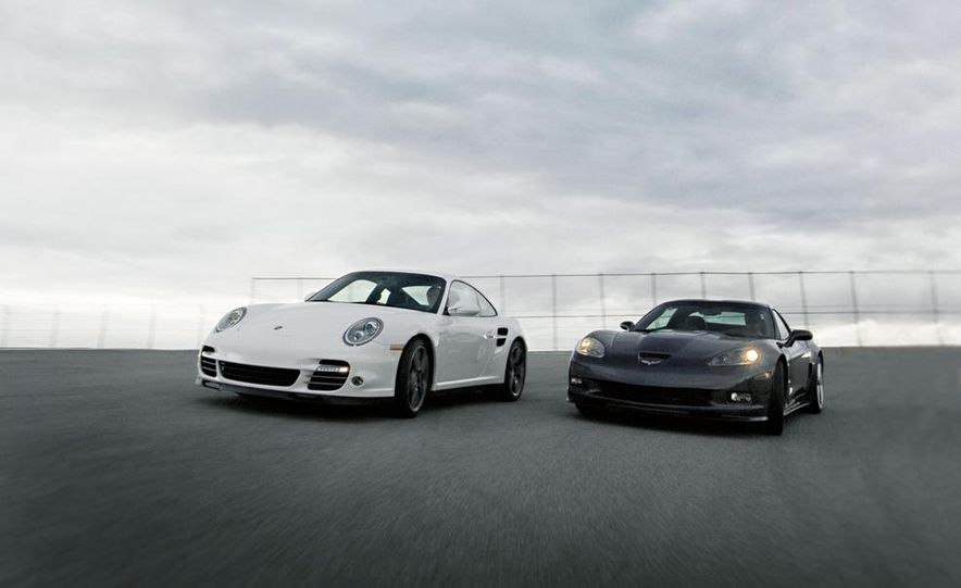 2010 Chevrolet Corvette ZR1 and 2010 Porsche 911 Turbo coupe - Slide 18