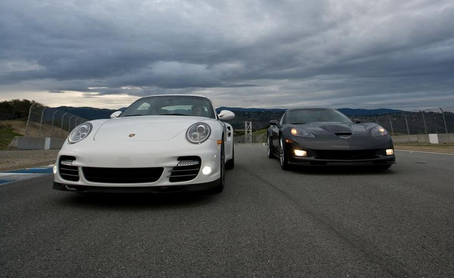 2010 Chevrolet Corvette ZR1 and 2010 Porsche 911 Turbo coupe - Slide 22