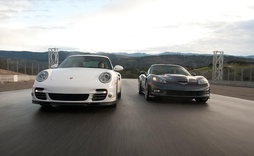2010 Chevrolet Corvette ZR1 and 2010 Porsche 911 Turbo coupe - Slide 24