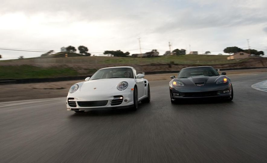 2010 Chevrolet Corvette ZR1 and 2010 Porsche 911 Turbo coupe - Slide 25