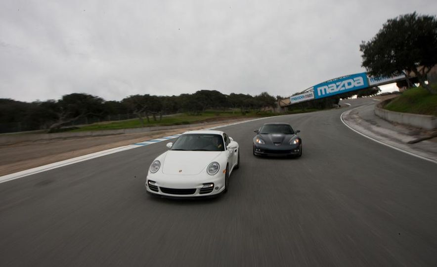 2010 Chevrolet Corvette ZR1 and 2010 Porsche 911 Turbo coupe - Slide 27