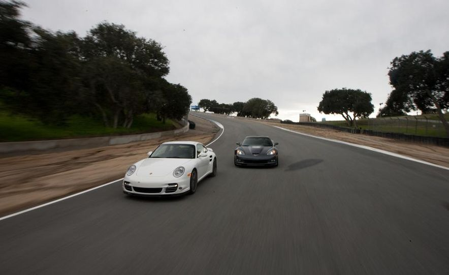 2010 Chevrolet Corvette ZR1 and 2010 Porsche 911 Turbo coupe - Slide 28