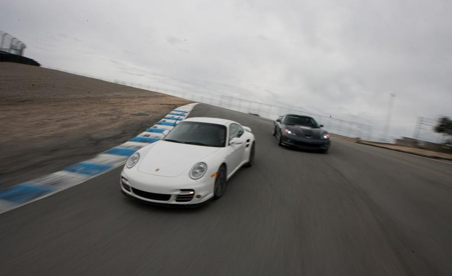 2010 Chevrolet Corvette ZR1 and 2010 Porsche 911 Turbo coupe - Slide 29