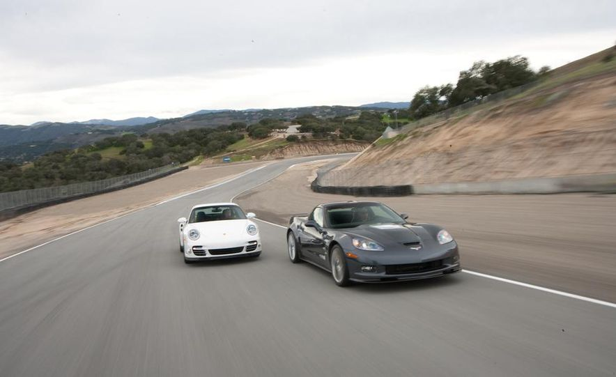 2010 Chevrolet Corvette ZR1 and 2010 Porsche 911 Turbo coupe - Slide 31