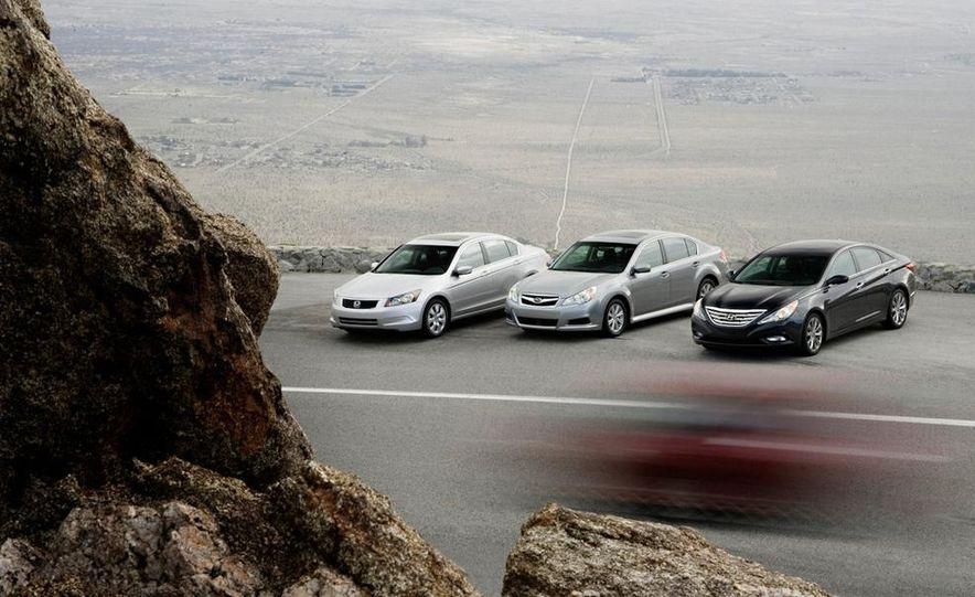 2010 Honda Accord EX, 2010 Subaru Legacy 2.5i, and 2011 Hyundai Sonata SE - Slide 3