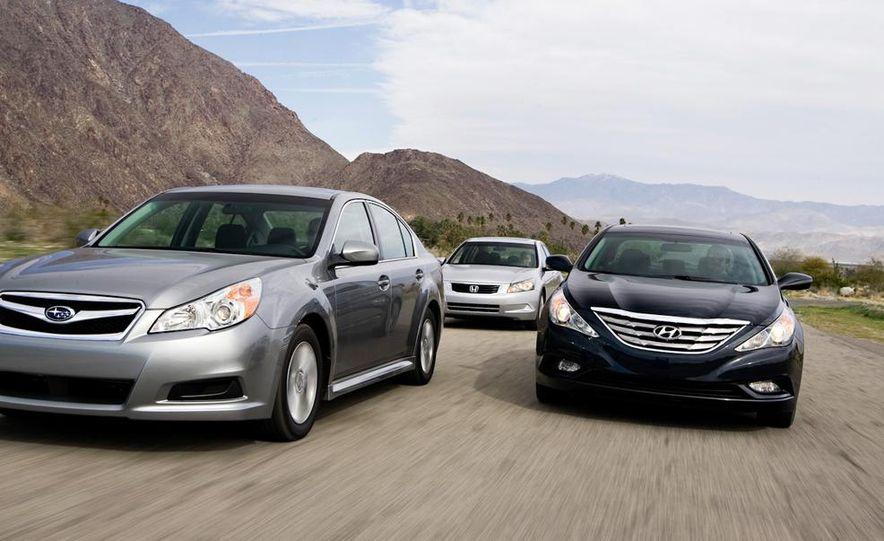 2010 Honda Accord EX, 2010 Subaru Legacy 2.5i, and 2011 Hyundai Sonata SE - Slide 2