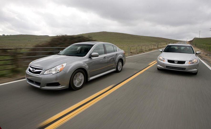 2010 Honda Accord EX, 2010 Subaru Legacy 2.5i, and 2011 Hyundai Sonata SE - Slide 10