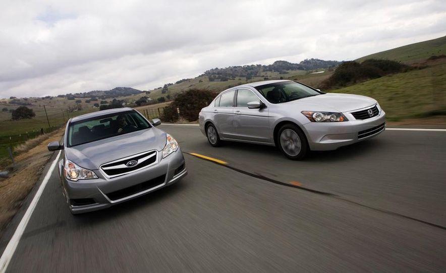 2010 Honda Accord EX, 2010 Subaru Legacy 2.5i, and 2011 Hyundai Sonata SE - Slide 12